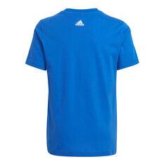 adidas Boys Graphic Tee Blue 4, Blue, rebel_hi-res