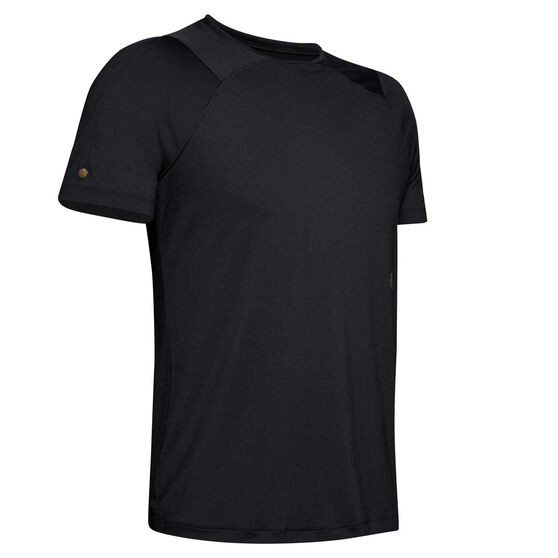 Under Armour Mens Rush Fitted Training Tee, Black, rebel_hi-res