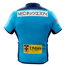 NSW Waratahs 2020 Mens Home Jersey Blue S, Blue, rebel_hi-res