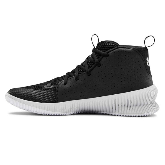 Under Armour Jet Mid Mens Basketball Shoes, Black / Grey, rebel_hi-res