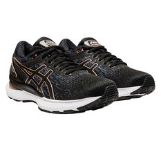 Asics GEL Nimbus 22 Knit Womens Running Shoes, Black, rebel_hi-res