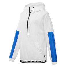 Reebok Womens Meet You There Woven Jacket White XS, White, rebel_hi-res