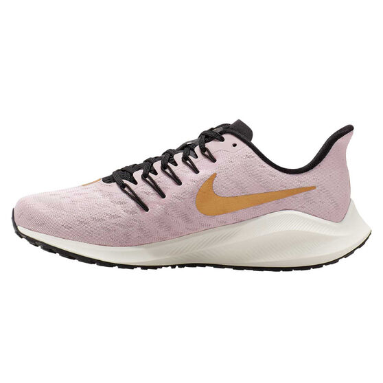 Nike Air Zoom Vomero 14 Womens Running Shoes, Pink / Gold, rebel_hi-res