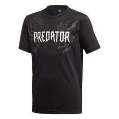 adidas Boys Predator Graphic Tee Black / White 8, Black / White, rebel_hi-res