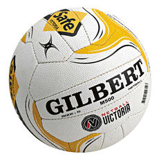 Gilbert Vic M500 Worksafe Netball White / Yellow 5, , rebel_hi-res
