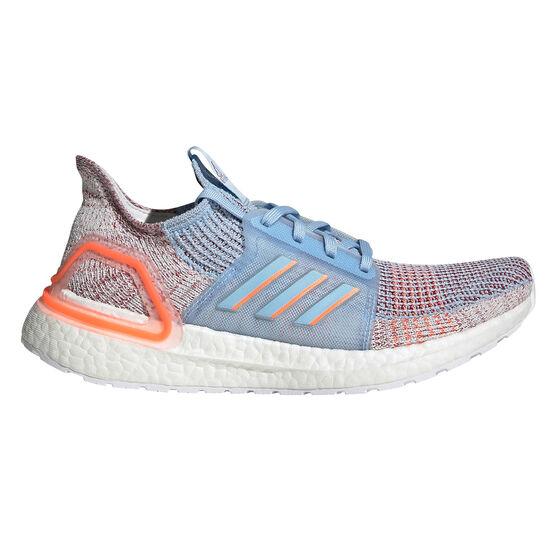 adidas Ultraboost 19 Womens Running Shoes, Blue / Pink, rebel_hi-res