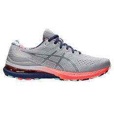 Asics GEL Kayano 28 Celebration of Sport Mens Running Shoes Grey/Blue US 8, Grey/Blue, rebel_hi-res