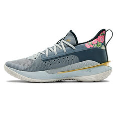 Under Armour Curry 7 Mens Basketball Shoes Grey US 8, Grey, rebel_hi-res
