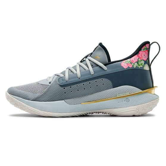 Under Armour Curry 7 Mens Basketball Shoes, Grey, rebel_hi-res