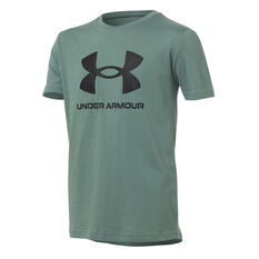 Under Armour Boys Sportstyle Logo Tee Green XS, Green, rebel_hi-res