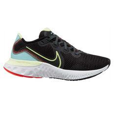 Nike Renew Run Womens Running Shoes Black/Volt US 6, Black/Volt, rebel_hi-res