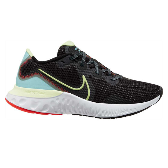 Nike Renew Run Womens Running Shoes, Black/Volt, rebel_hi-res