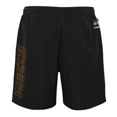 West Tigers 2021 Mens Sports Shorts, Black, rebel_hi-res