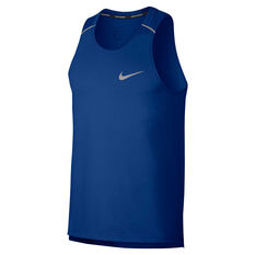 Nike Mens Breathe Rise 365 Running Tank Blue M, Blue, rebel_hi-res
