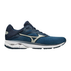 Mizuno Wave Rider 23 2E Mens Running Shoes Navy / Blue US 8, Navy / Blue, rebel_hi-res