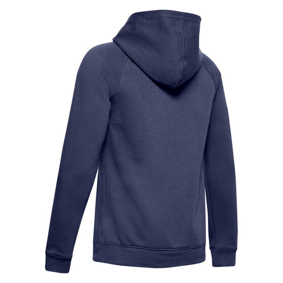 Under Armour Boys Rival Logo Hoodie, Blue / White, rebel_hi-res