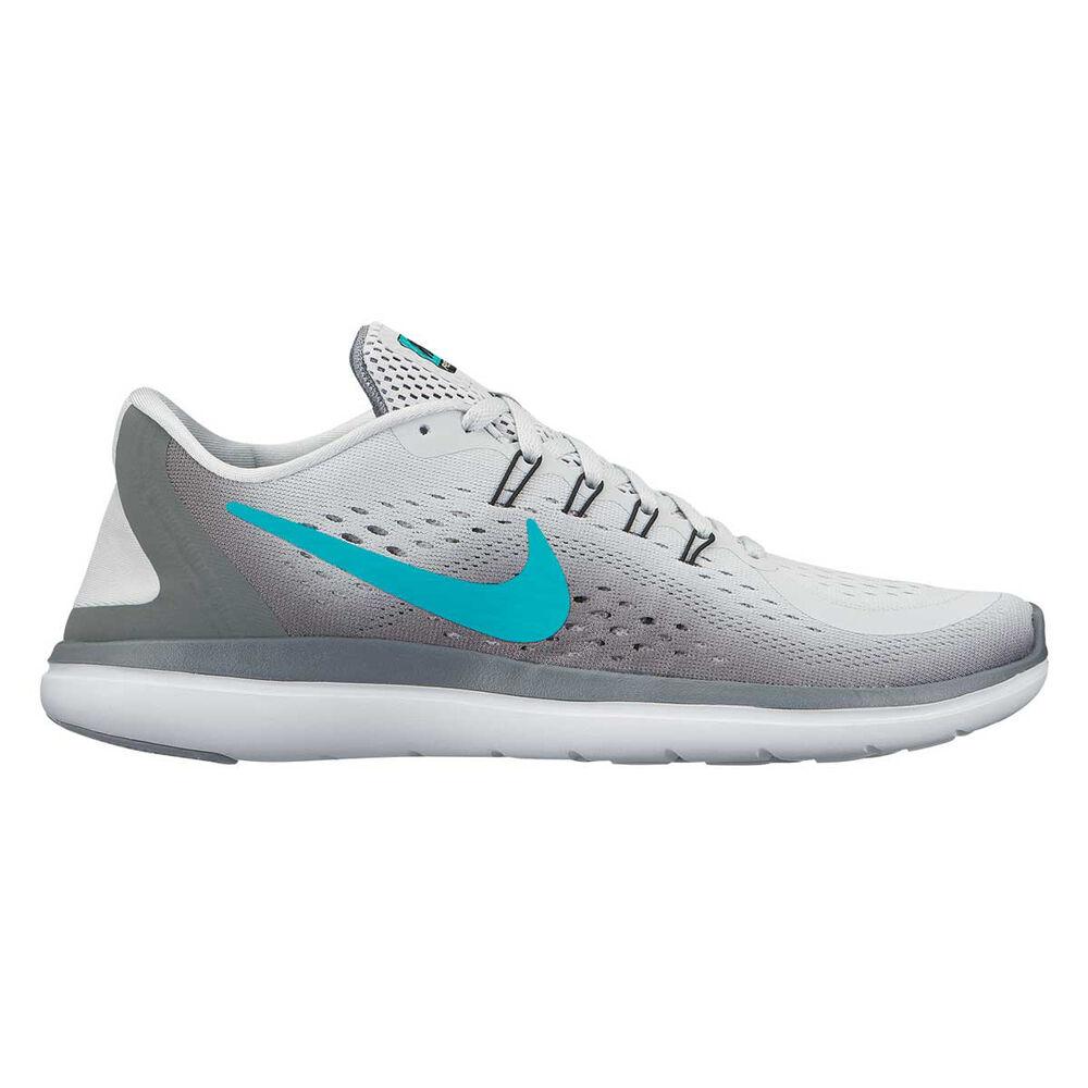 72d28ac3a307 Nike Flex Run 2017 Womens Running Shoes White   Grey US 6