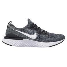 Nike Epic React Flyknit 2 Mens Running Shoes Black / White US 8, Black / White, rebel_hi-res