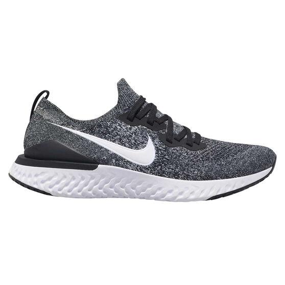 Nike Epic React Flyknit 2 Mens Running Shoes, Black / White, rebel_hi-res