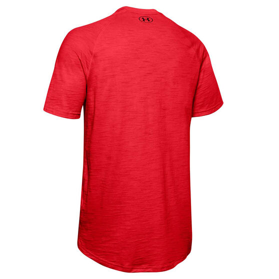 Under Armour Mens Charged Cotton Tee, Red, rebel_hi-res