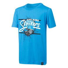 Adelaide Strikers 2019 Kids Graphic Tee Blue 8, Blue, rebel_hi-res