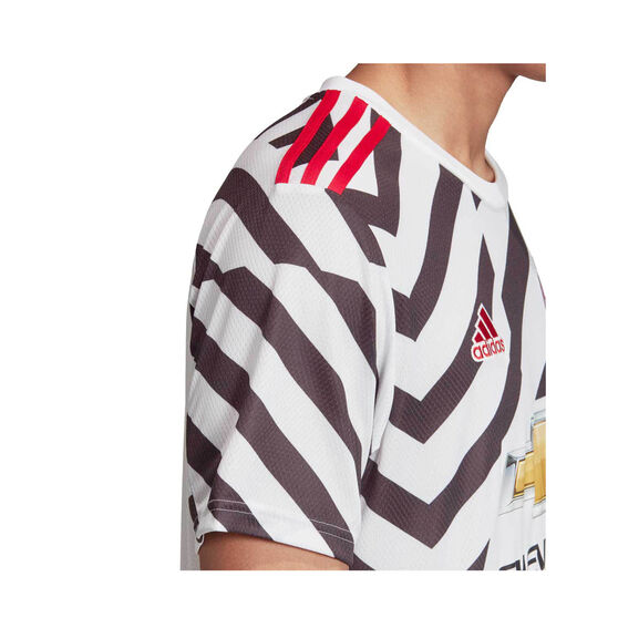 Manchester United 2020/21 Mens Third Jersey White XXL, White, rebel_hi-res