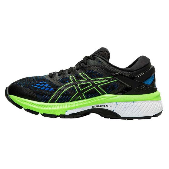 Asics GEL Kayano 26 Kids Running Shoes, Black / Green, rebel_hi-res