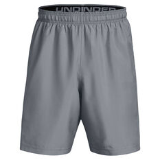 Under Armour Mens Woven Graphic Training Shorts Grey/Black XS, Grey/Black, rebel_hi-res