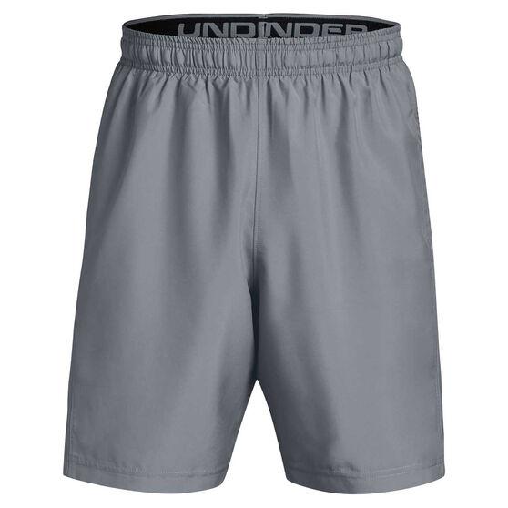 Under Armour Mens Woven Graphic Training Shorts Grey/Black M, Grey/Black, rebel_hi-res