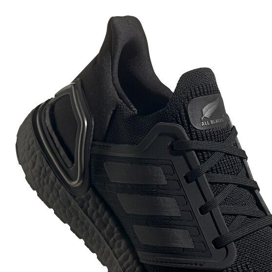 adidas Ultraboost 20 All Blacks Mens Running Shoes, Black, rebel_hi-res