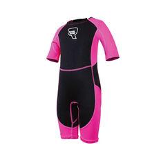 Raw Toddler Spring Wetsuit Black / Pink 2, Black / Pink, rebel_hi-res