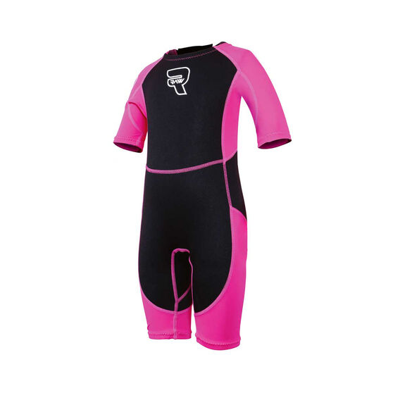 Raw Toddler Spring Wetsuit Black / Pink 2, Black / Pink, rebel_hi-res