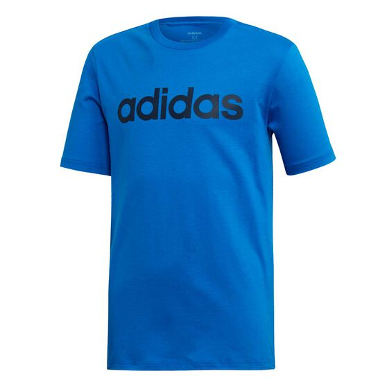 adidas Boys Essentials Linear T-Shirt, Blue / Navy, rebel_hi-res