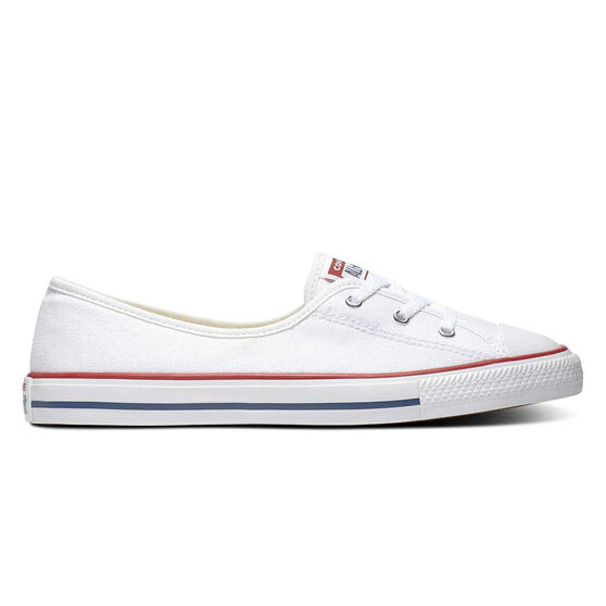 Converse Chuck Taylor All Star Ballet Lace Womens Casual Shoes, White / Navy, rebel_hi-res