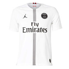 Paris Saint Germain FC 2018/19 Air Jordan Mens 3rd Jersey White S, White, rebel_hi-res
