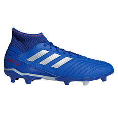 adidas Predator 19.3 Mens Football Boots Blue / Silver US Mens 7 / Womens 8, Blue / Silver, rebel_hi-res