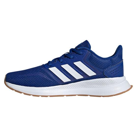 adidas Runfalcon Kids Running Shoes, Blue/White, rebel_hi-res