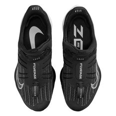 Nike Air Zoom Tempo Next% FlyEase Womens Running Shoes, Black/White, rebel_hi-res
