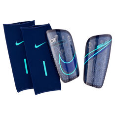 Nike Mercurial Lite CR7 Shin Guards Blue / Silver S, Blue / Silver, rebel_hi-res