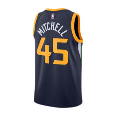Nike Utah Jazz Donovan Mitchell 2019 Mens Icon Edition Swingman Jersey Navy S, Navy, rebel_hi-res
