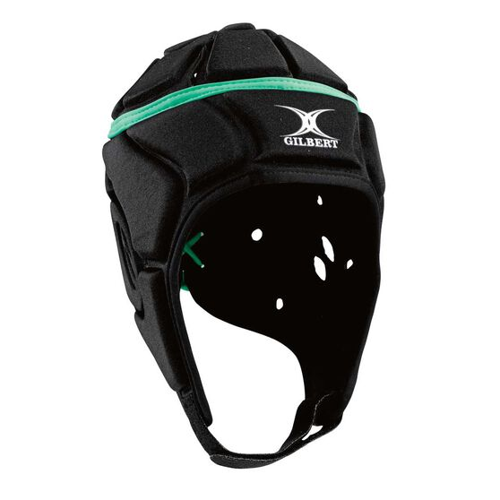 Gilbert Attack Junior Headgear, Black, rebel_hi-res