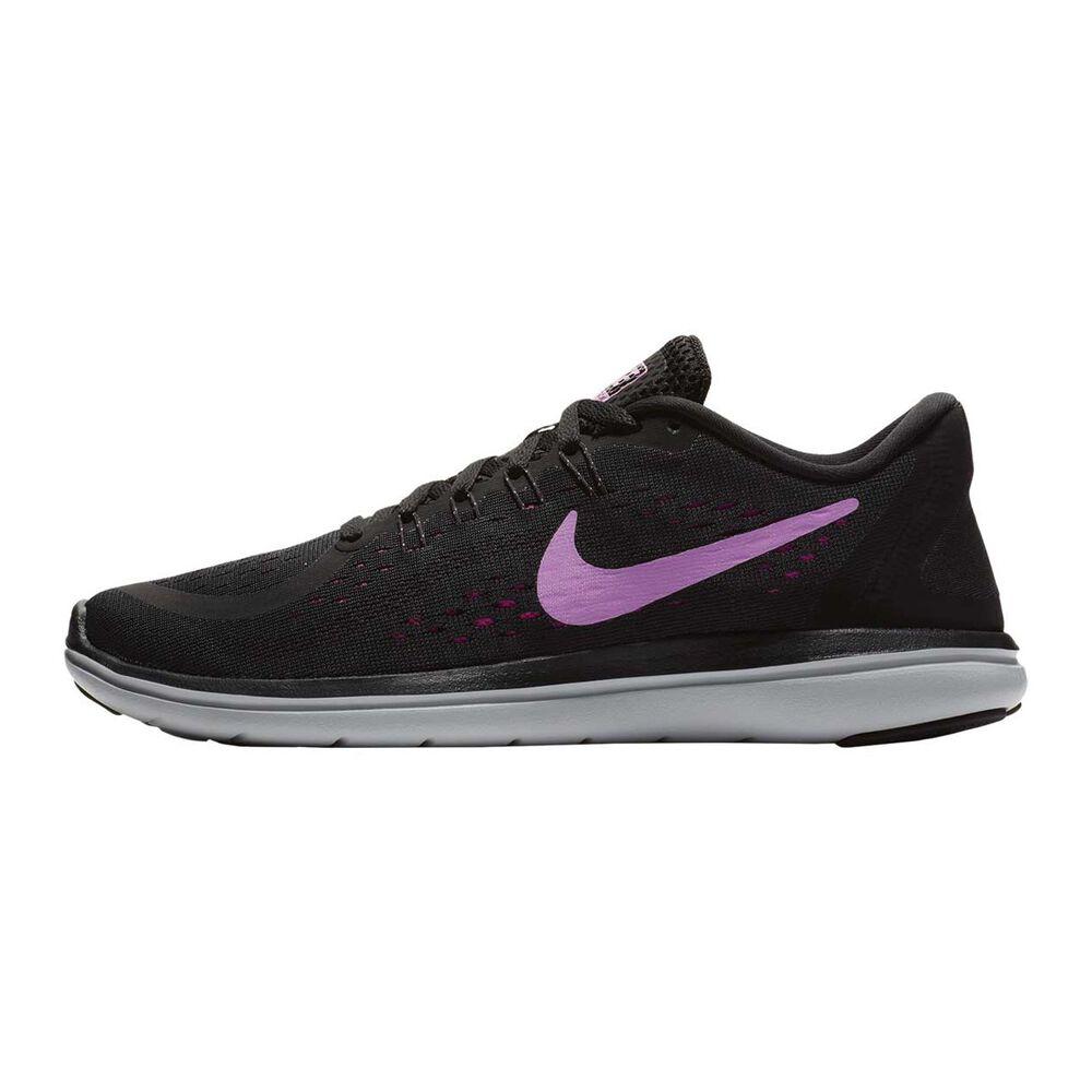 b5f0df08fac Nike Flex 2017 RN Womens Running Shoes Black   Pink US 6
