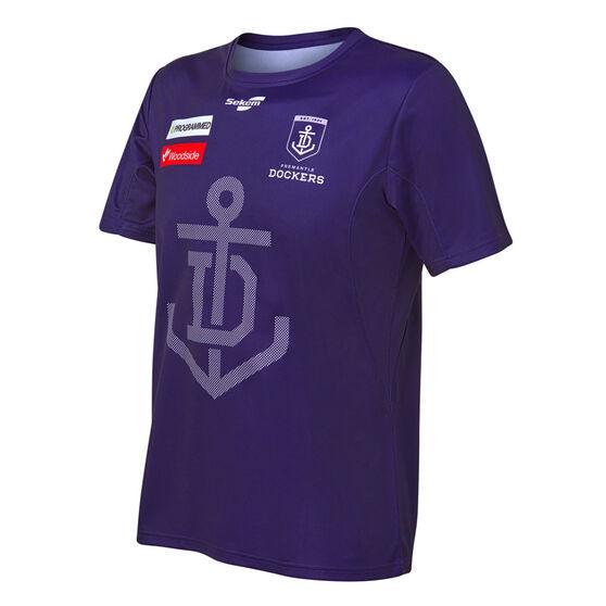 Fremantle Dockers 2021 Mens Training Tee, Purple, rebel_hi-res