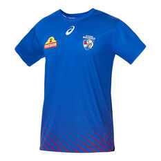 Western Bulldogs 2020 Mens Training Tee Blue S, Blue, rebel_hi-res