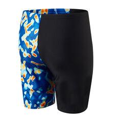 Speedo Boys Leisure Lava Waterboy Swim Shorts Black 6, Black, rebel_hi-res