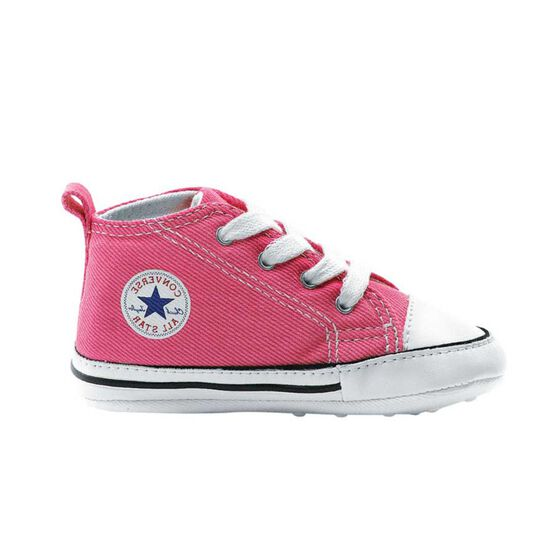 45a123e4e06a32 Converse Chuck Taylor First Star Infant Shoes Pink   White US 3 ...