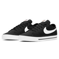 Nike Court Legacy Canvas Mens Casual Shoes, Black/White, rebel_hi-res