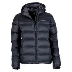 Macpac Women's Hooded Halo Down Jacket Black 8, Black, rebel_hi-res