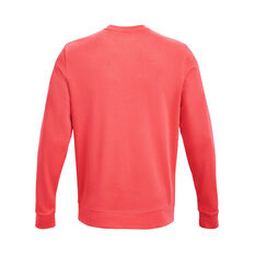Under Armour Mens Rival Terry Crew Red XS, Red, rebel_hi-res