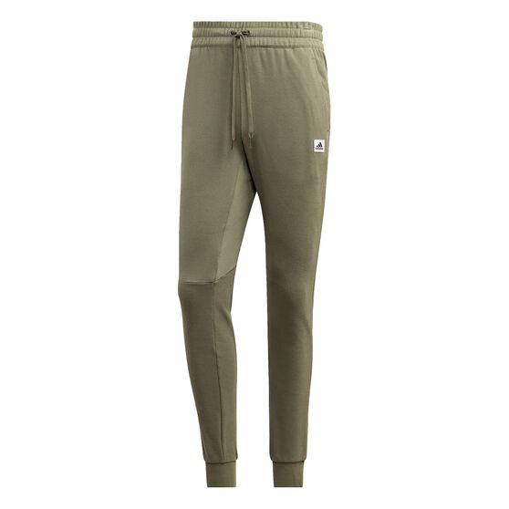 adidas Mens Brilliant Basics Track Pants, Green, rebel_hi-res
